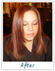 Before and After / Brazilian Keratin Hair Treatment